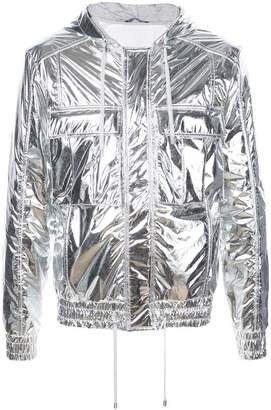 Balmain metallic wind breaker