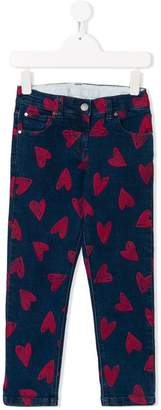 Stella McCartney Lohan heart print jeans