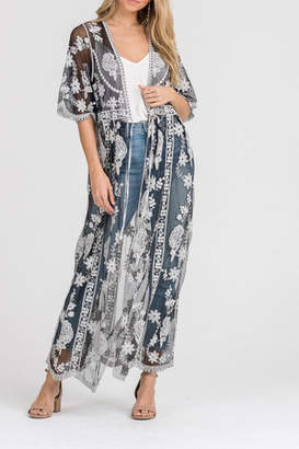 Lush Lace Embroidered Cardigan