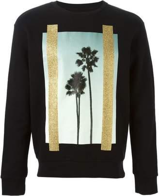 Palm Angels palm tree print sweatshirt