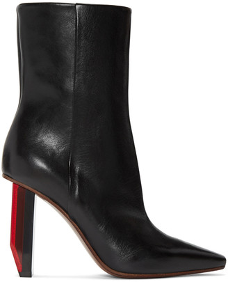 Vetements Black Reflector-Heel Boots $1,710 thestylecure.com