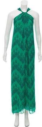 Diane von Furstenberg Silk Printed Maxi Dress
