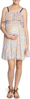 Maternal America Ruffle Maternity Dress