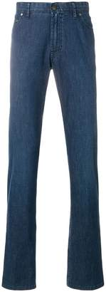 Brioni long length loose-fit jeans