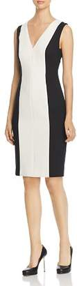 Paule Ka Color-Blocked Sheath Dress