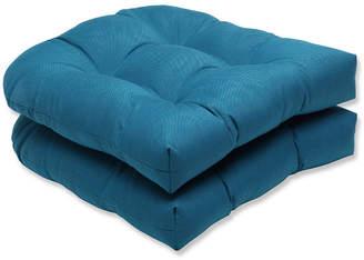 Spectrum Peacock Wicker Seat Cushion, Set of 2