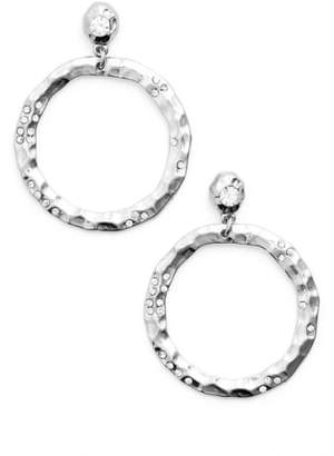 Karine Sultan Jewely Cubic Zirconia Frontal Hoop Earrings
