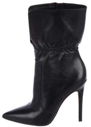 Via Spiga Leather Mid-Calf Boots