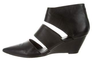 Belle by Sigerson Morrison Pointed-Toe Cutout Wedges