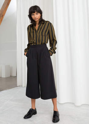And other stories High Waisted Twill Culottes