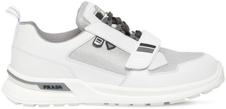 Prada Work Leather & Fabric Sneakers