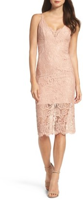 Women's Bardot Lace Pencil Dress $119 thestylecure.com