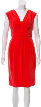 Carmen Marc Valvo Sleeveless Knee-Length Dress