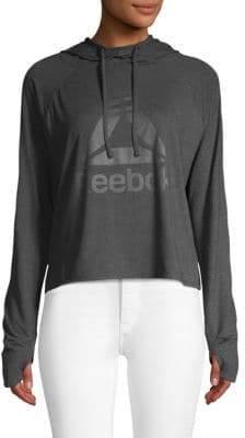 Reebok Logo High-Low Hoodie