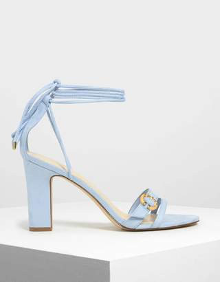 Charles & Keith Open Toe Strappy Block Heels
