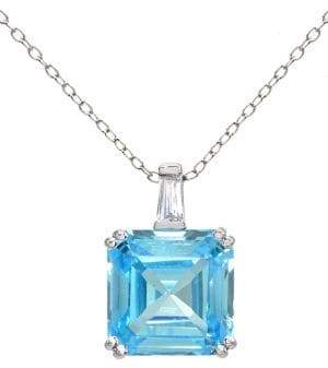 Lord & Taylor Square Cubic Zirconia Stone Necklace