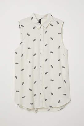H&M Sleeveless Viscose Blouse - White