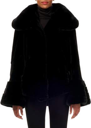 Gorski Reversible Rabbit Fur/Taffeta Jacket