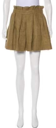 Etoile Isabel Marant Pleated Linen Mini Skirt