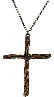 Pamela Love Rope Cross Pendant Necklace