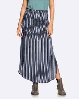 Roxy Womens Sunset Islands Striped Maxi Skirt