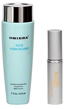 Omiera Revimour Eyelash Growth Enhancer and Brow Serum for Longer Fuller Thicker Looking Eyelashes & Eyebrows and Acdue Acne Dark Spot Face Wash