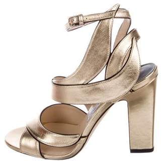 Jimmy Choo Falcon 100 Leather Sandals w/ Tags