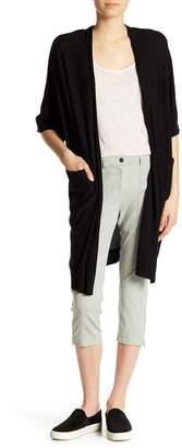 Go Silk go > by GoSilk Silk Blend Short Sleeve Open Faced Duster