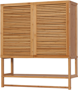Creative Bath Ecostyles Louver 2 Door Wall Cabinet With Towel Bar
