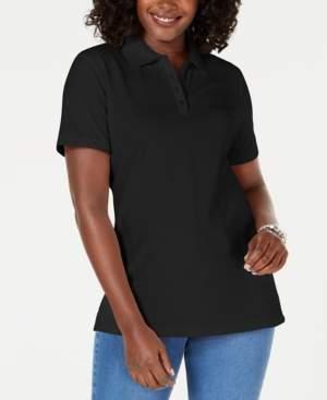 Karen Scott Cotton Pique Polo Top, Created for Macy's