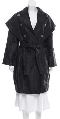 Nina Ricci Gathered Silk Coat