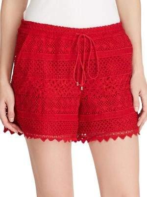 Lauren Ralph Lauren Scalloped Lace Shorts