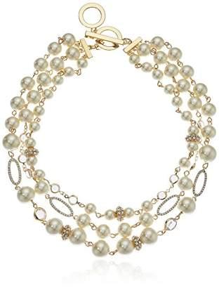 Anne Klein Women's Gold Tone 16in Collar Necklace