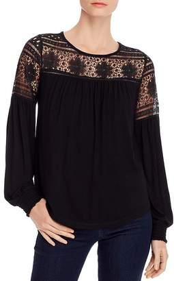 Design History Lace Knit Top