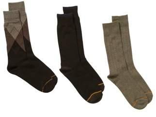 Gold Toe Gt a Goldtoe Brand GT by Men's Argyle Dress Socks, 3-Pack