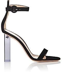 Gianvito Rossi Women's Elias Suede Ankle-Strap Sandals-Black