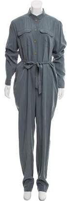 Burberry Silk-Blend High-Rise Jumpsuit w/ Tags