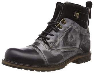 a15d8484b52 Yellow Cab Men's Soldier M Cold Lined Biker Boots Short Shaft Boots and  Bootees Black Size