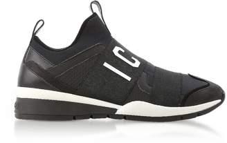 DSQUARED2 Black Neoprene and Nubuck Icon Men's Sneakers