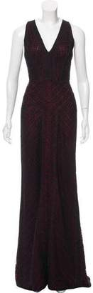 J. Mendel Guipure Lace Evening Dress