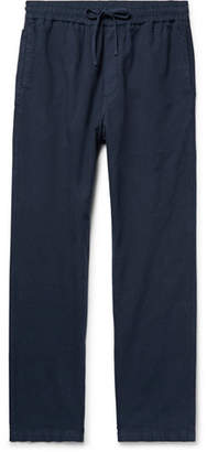 YMC Navy Cotton and Linen-Blend Drawstring Trousers - Men - Navy