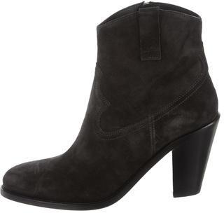 Saint LaurentSaint Laurent Suede Pointed-Toe Ankle Boots