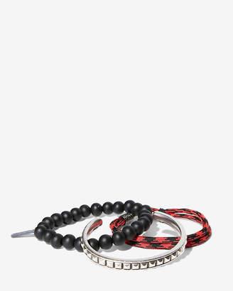 Express Set Of Three Bead Cuff Bungee Bracelets