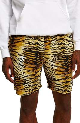 Topman Tiger Print Shorts