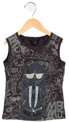 Little Marc Jacobs Girls' Sleeveless Printed Top