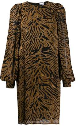 Ganni tiger print shift dress