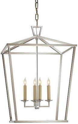 Visual Comfort & Co. Darlana 4-Bulb Lantern - Nickel