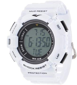 Everlast HR4 Heart Rate Monitor Watch with Transmitter Belt, White Plastic Band