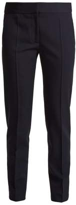 Stella McCartney Zip Hem Skinny Wool Trousers - Womens - Navy