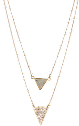 Panacea Pannee By Gold-Tone Layered Triangle Accent Necklace